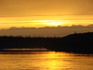 Waswanipi-River-in-the-even Allan L. Cooper 2009