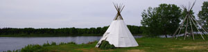 tipi by the river - Julie Fortune 2010
