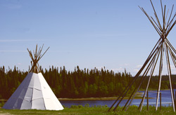 Two Tipis, Photo Julie Fortuné 2010